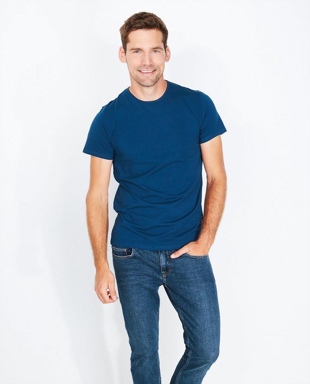 Blauw biokatoenen T-shirt DE - null - Iveo